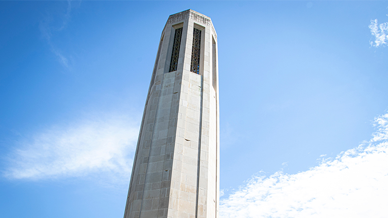 Mueller Bell Tower on the UNL City Campus