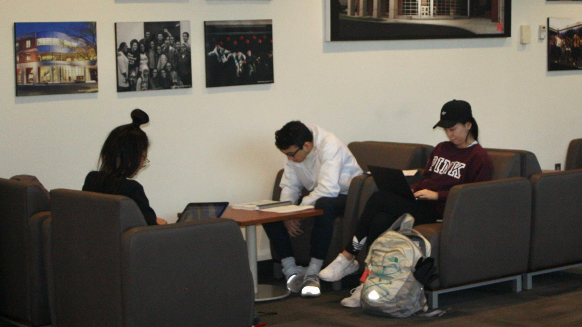 Students study in the Jackie Gaughan Multicultural Center