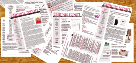Colage of UNL Parents Association Campus Reports